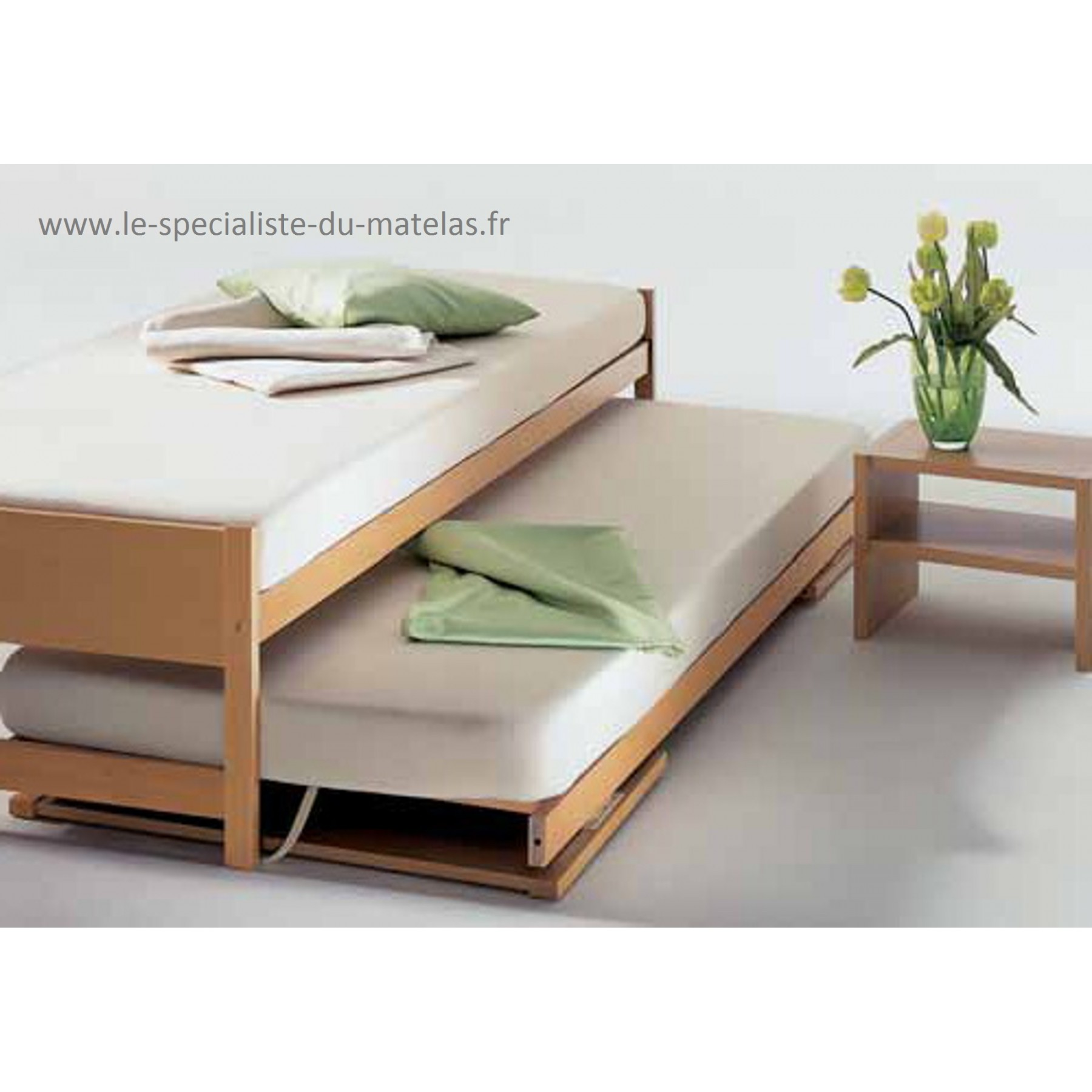 lit gigogne hasena mod le lido d couvrir au le sp cialiste du matelas. Black Bedroom Furniture Sets. Home Design Ideas