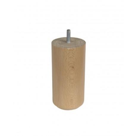 Pieds cylindrique en bois pour sommier à lattes