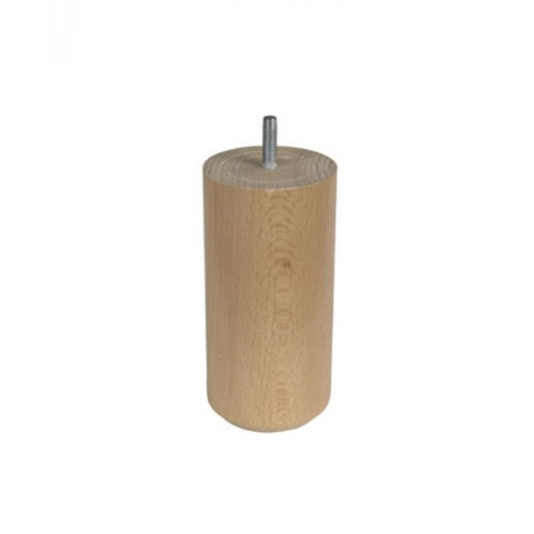 pieds cylindrique en bois pour sommier lattes. Black Bedroom Furniture Sets. Home Design Ideas