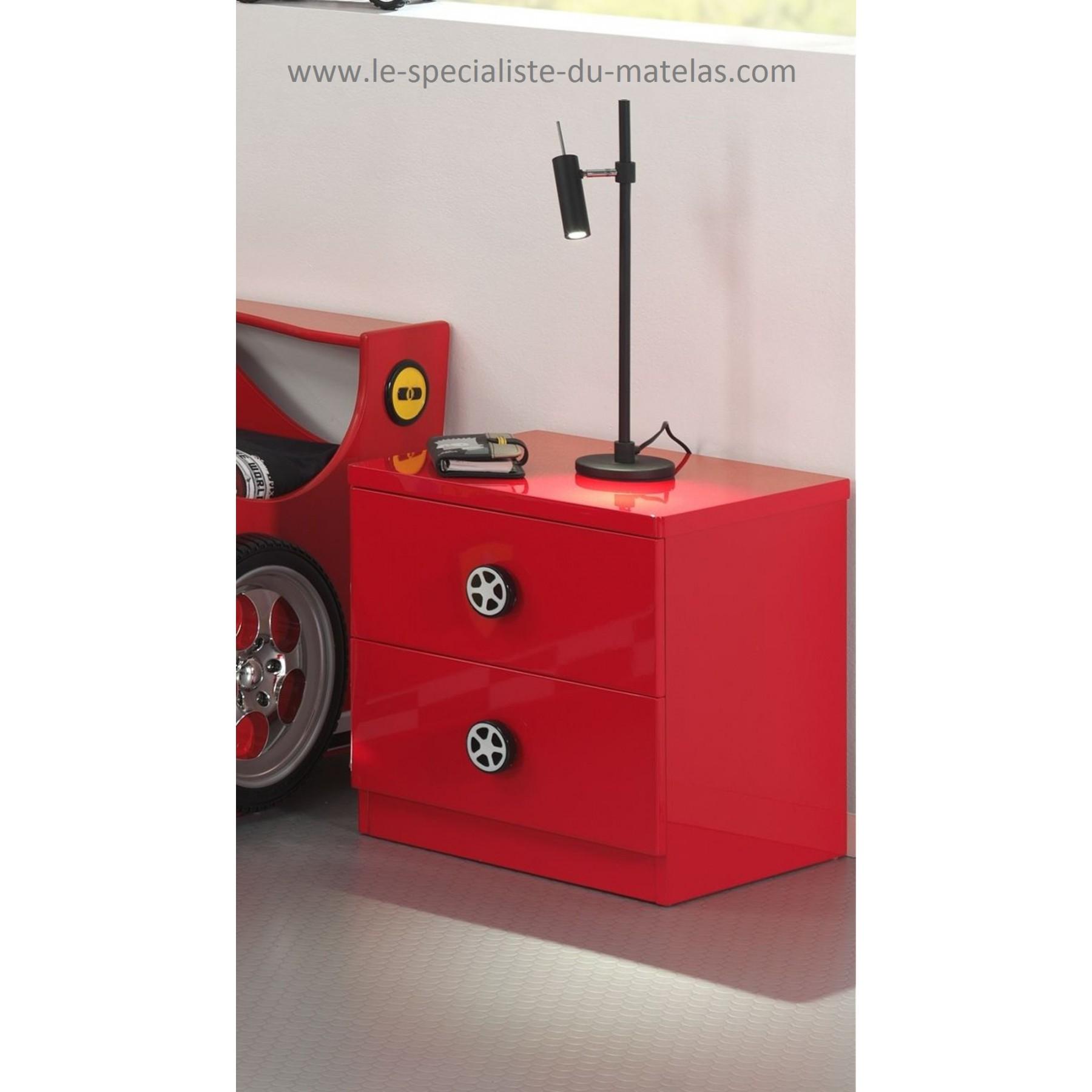 lit voiture de course rouge. Black Bedroom Furniture Sets. Home Design Ideas