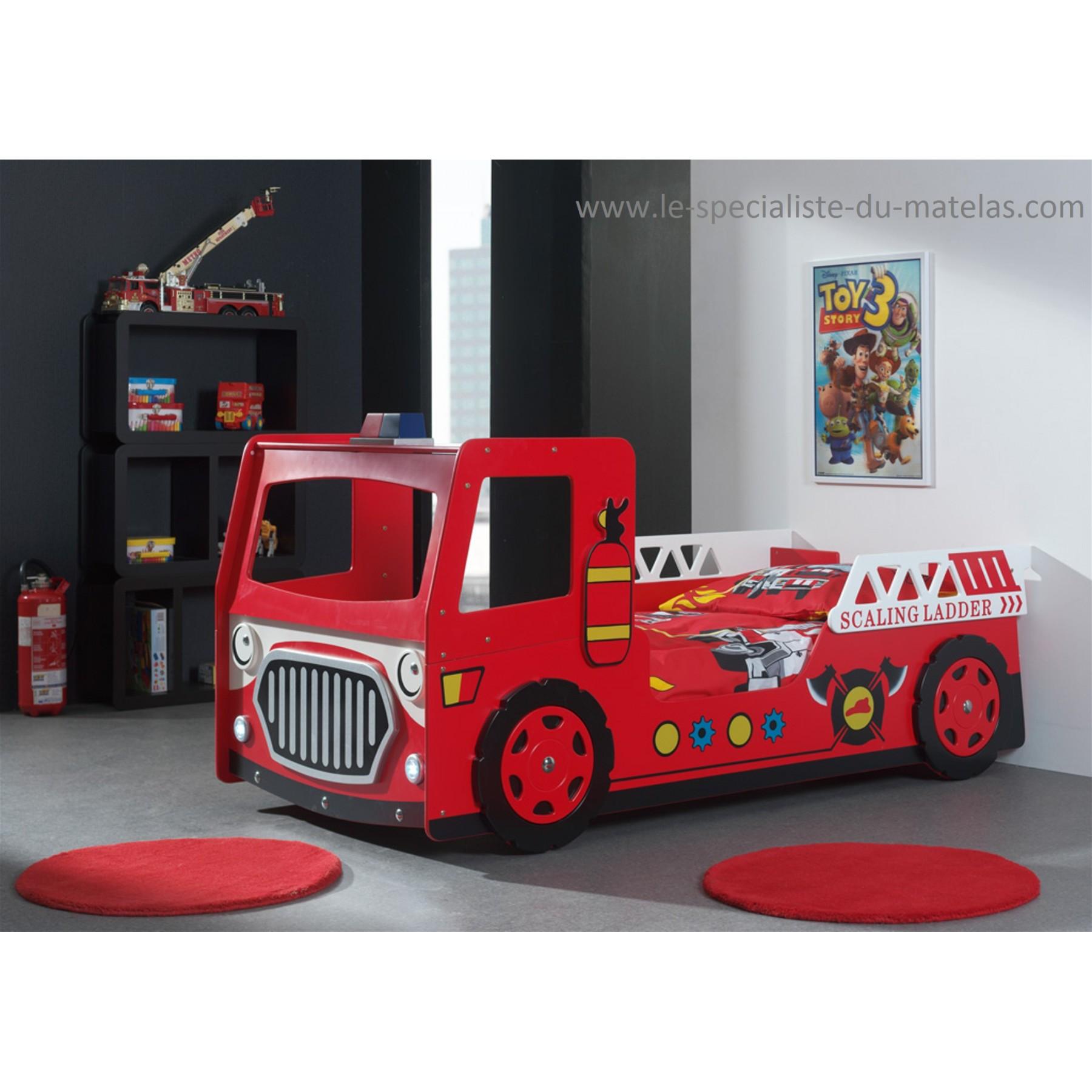lit camion de pompier. Black Bedroom Furniture Sets. Home Design Ideas