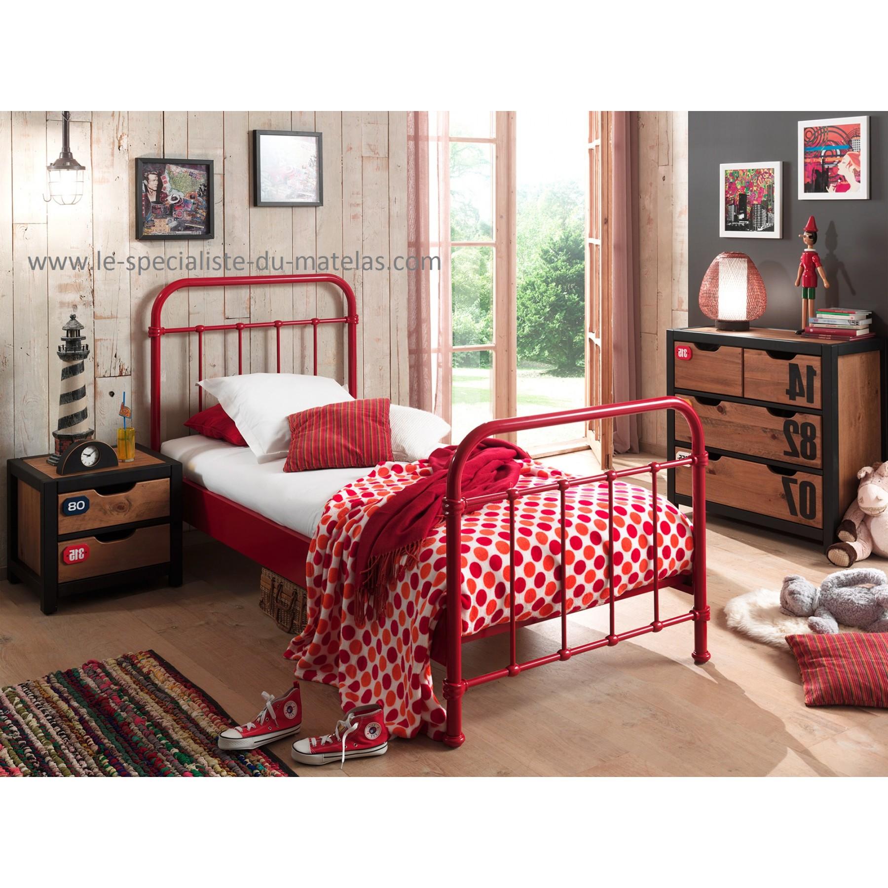 lit en fer new york le sp cialiste du matelas. Black Bedroom Furniture Sets. Home Design Ideas