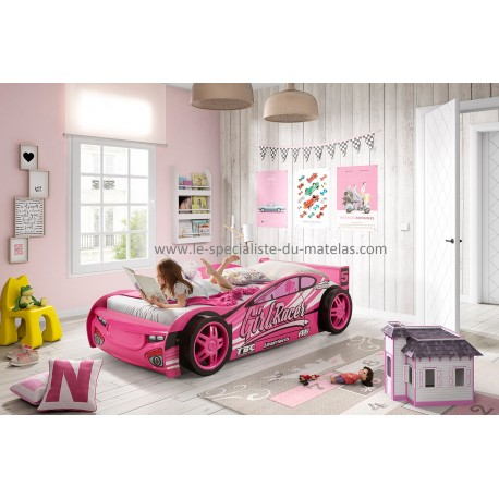 lit voiture fille. Black Bedroom Furniture Sets. Home Design Ideas