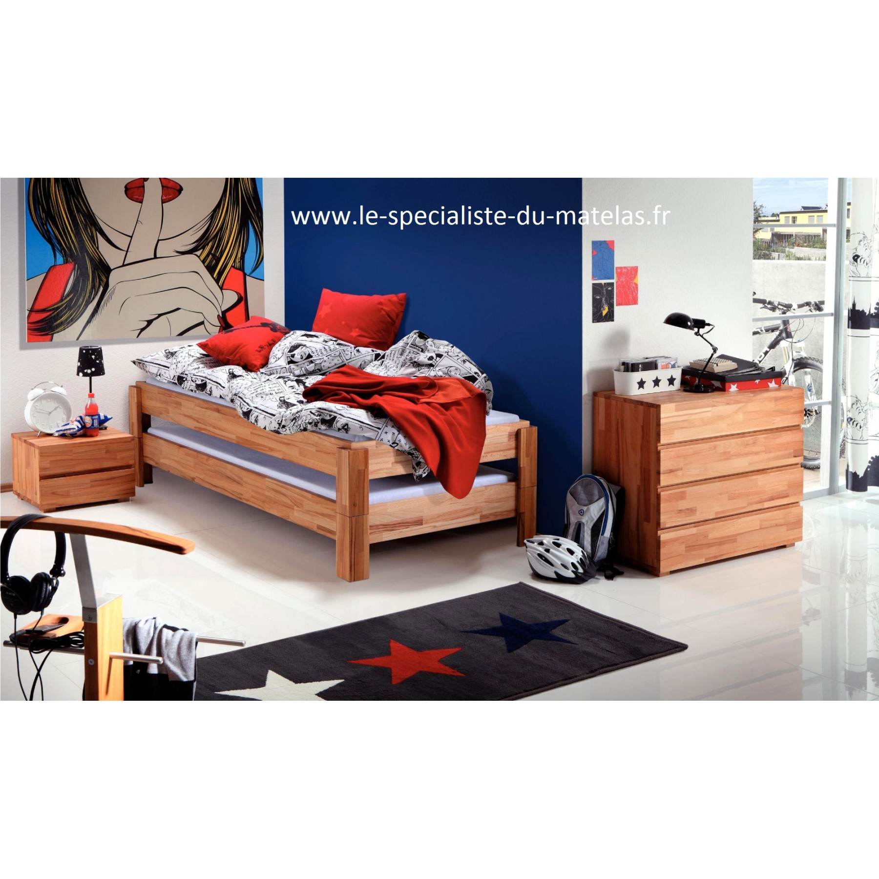 lit gigogne hasena mod le amigo d couvrir au le sp cialiste du matelas. Black Bedroom Furniture Sets. Home Design Ideas