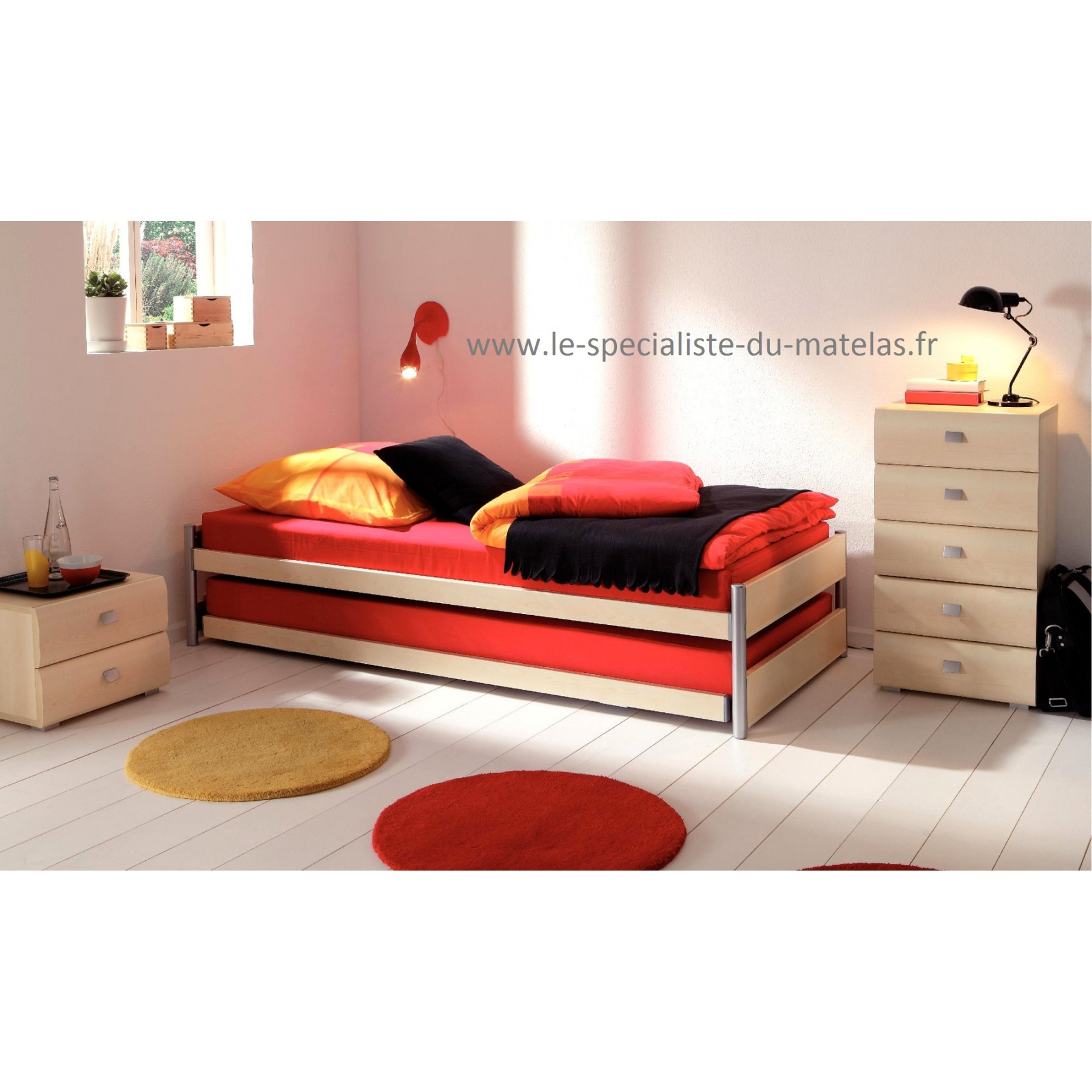 lit gigogne hasena mod le clic d couvrir au le sp cialiste du matelas. Black Bedroom Furniture Sets. Home Design Ideas