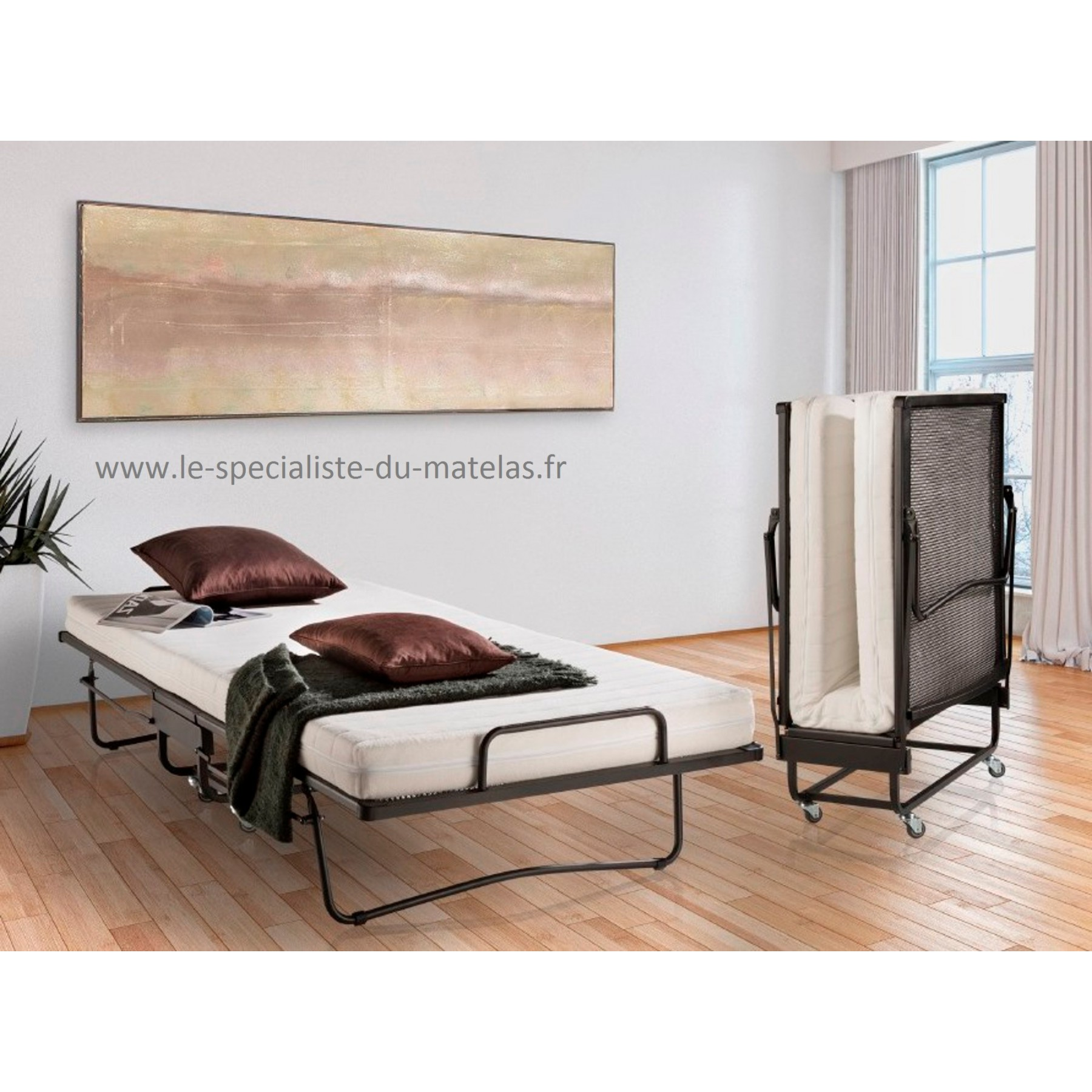 lit pliant en treillis renforc le plus solide d couvrir au le sp cialiste du matelas. Black Bedroom Furniture Sets. Home Design Ideas