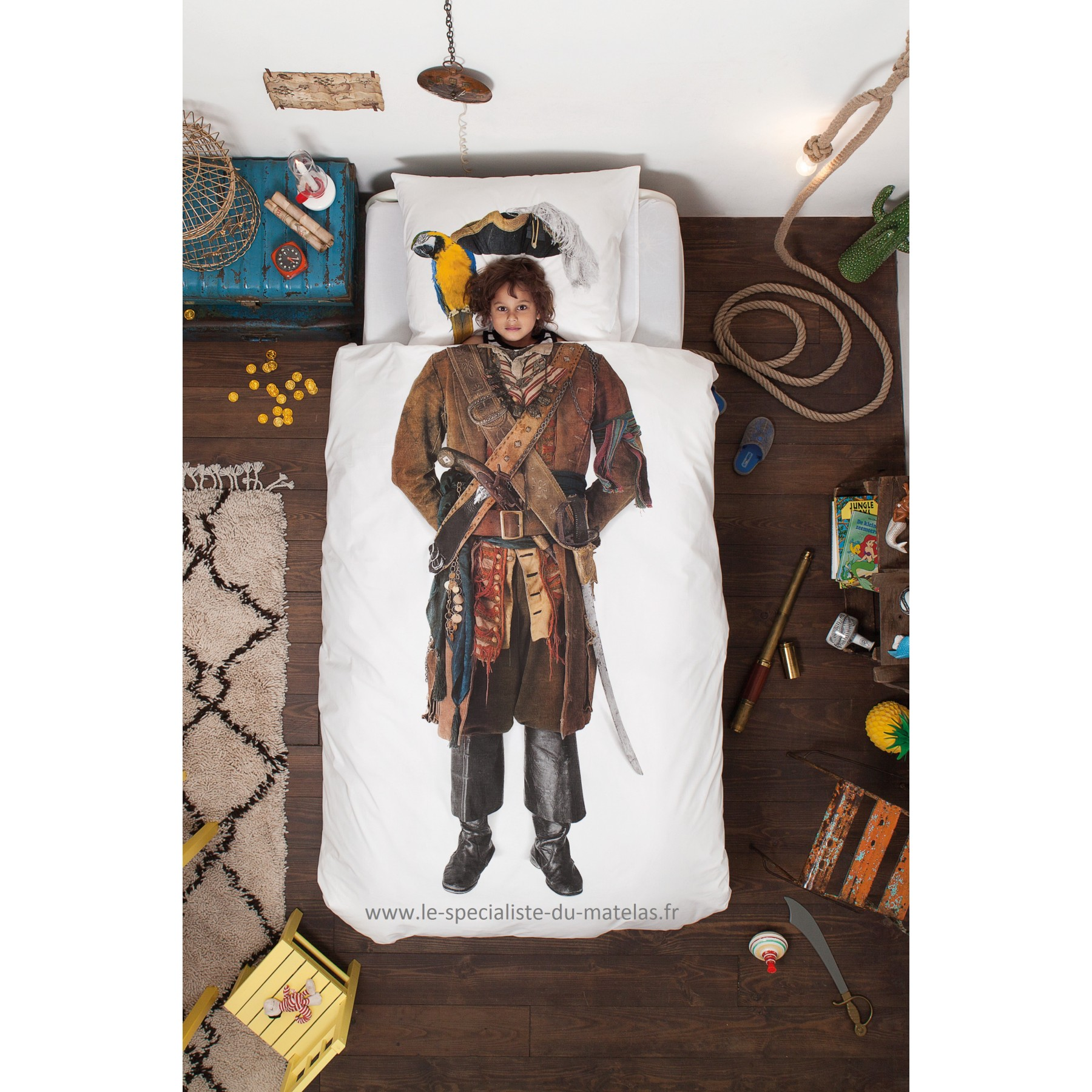 housse de couette snurk pirate d couvrir au le sp cialiste du matelas. Black Bedroom Furniture Sets. Home Design Ideas