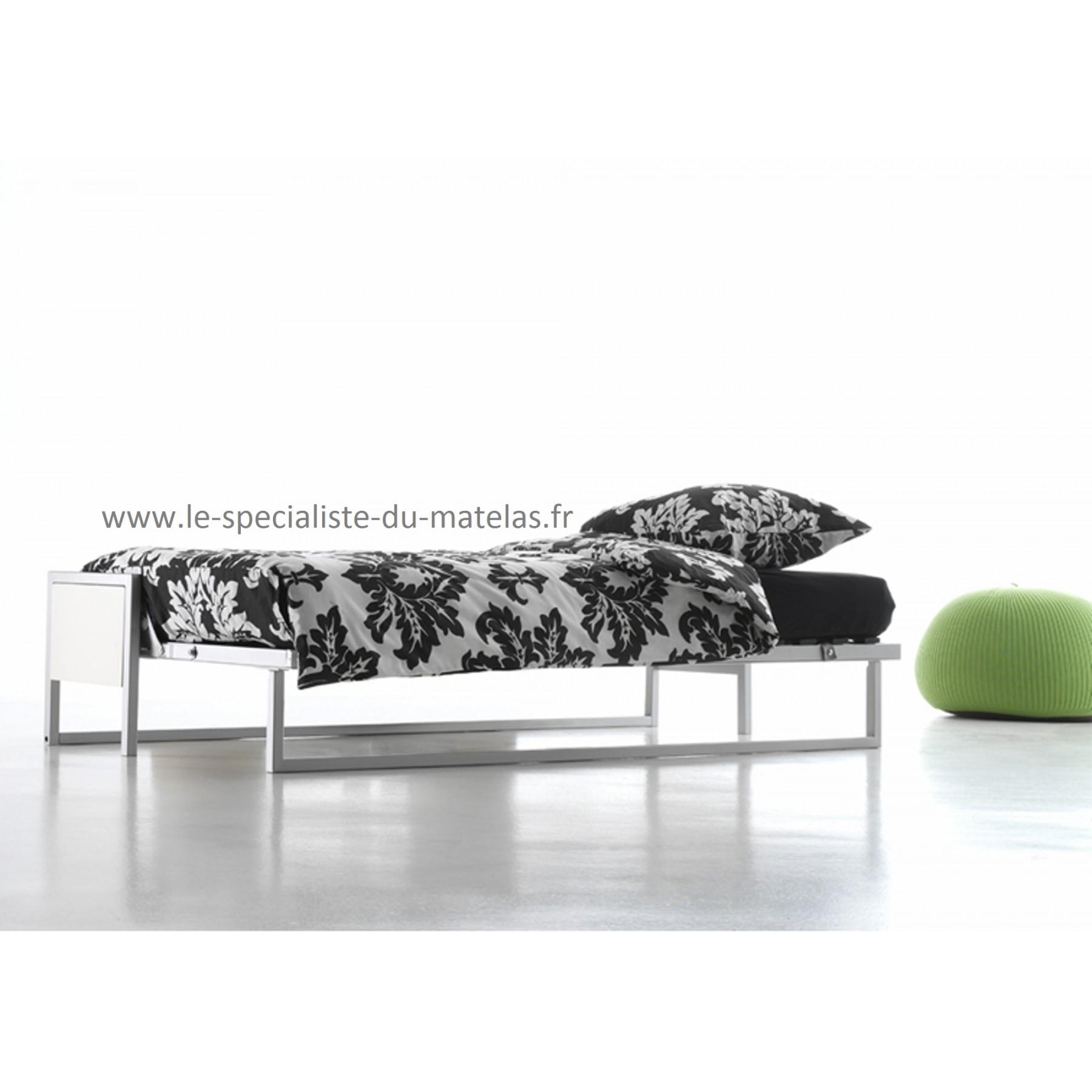 Lit rabatable boone mod le cubed horizontal sp cialiste for Matelas pour lit escamotable