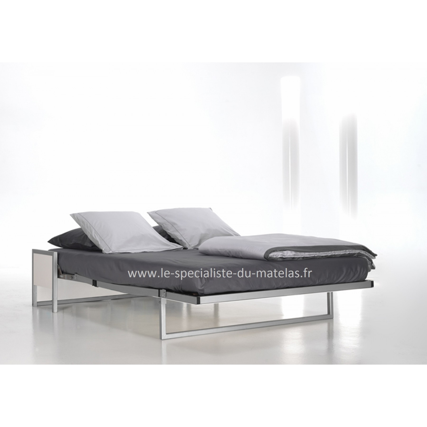 Lit escamotable boone mod le cubed au sp cialiste du matelas for Lit rabattable vertical