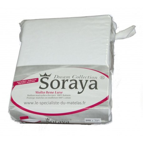 Protège-matelas Soraya 100% coton poche 45cm