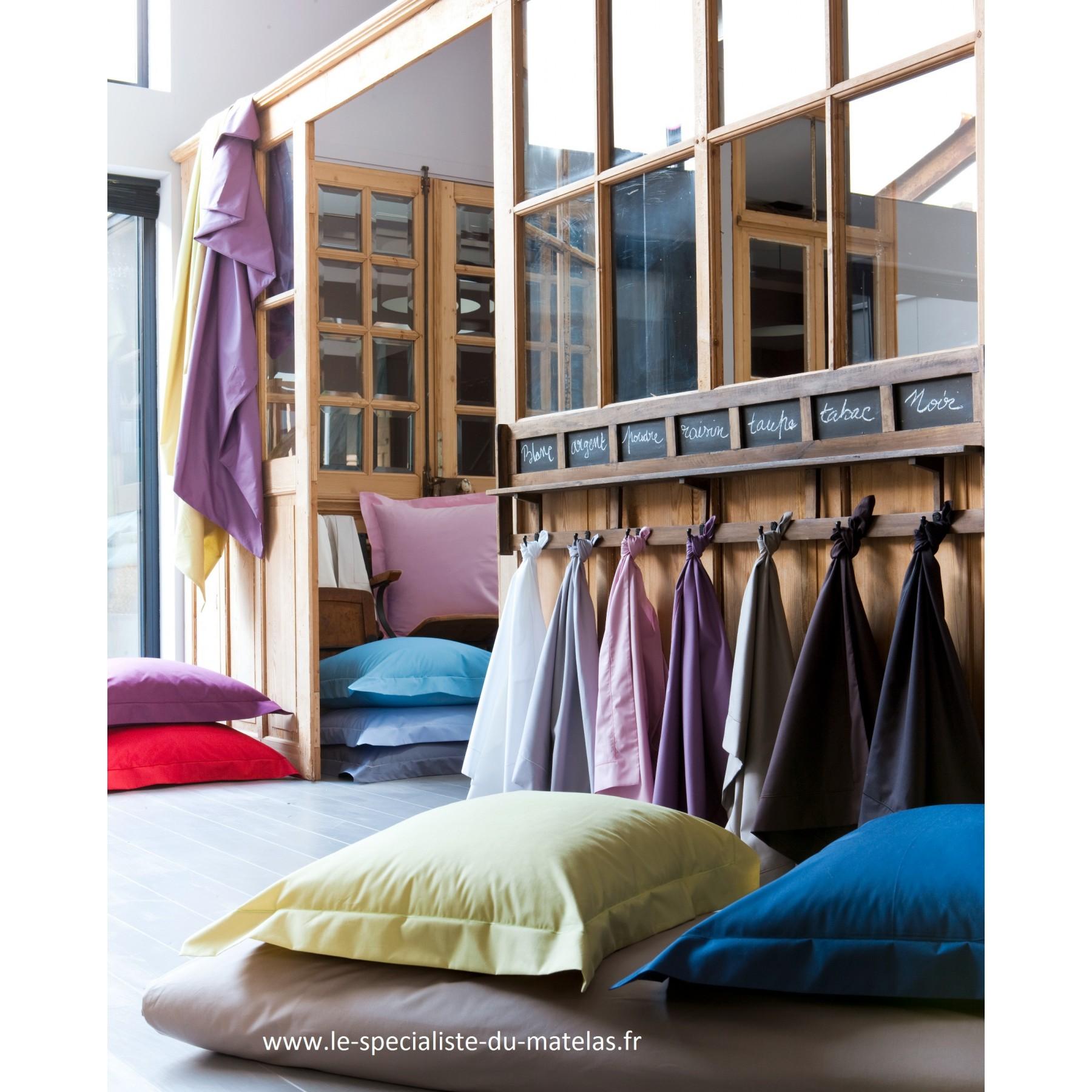 drap housse essix percale de coton poche 30cm d couvrir au le sp cialiste du matelas. Black Bedroom Furniture Sets. Home Design Ideas
