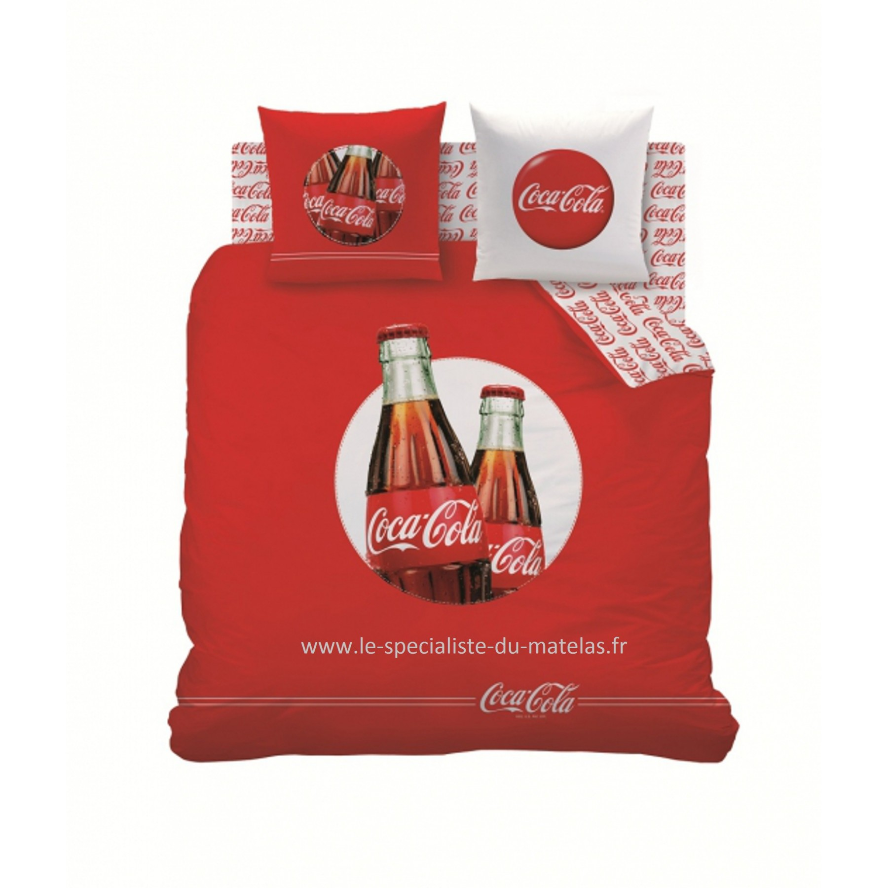 Housse de couette coca cola mod le cool d couvrir au le sp cialiste du matelas - Housse de couette coca cola ...