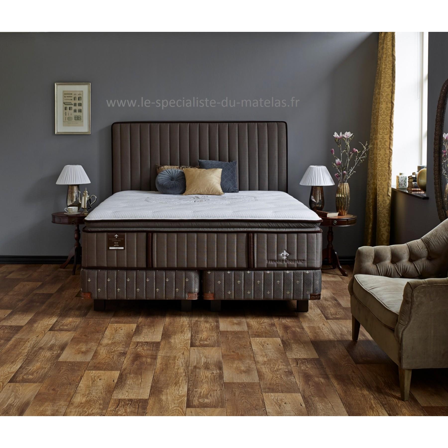 matelas com lit stearns and foster avec matelas lux estate plush matelas energie par simmons. Black Bedroom Furniture Sets. Home Design Ideas